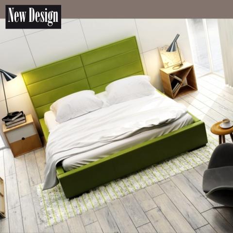 Łóżko QUADDRO DOUBLE NEW DESIGN tapicerowane