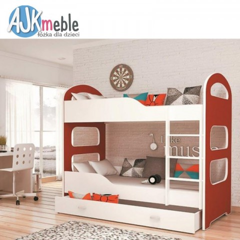 Łóżko piętrowe DOMINIK AJK MEBLE dziecięce