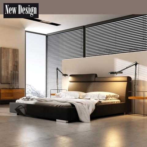 Łóżko MODERN NEW DESIGN tapicerowane