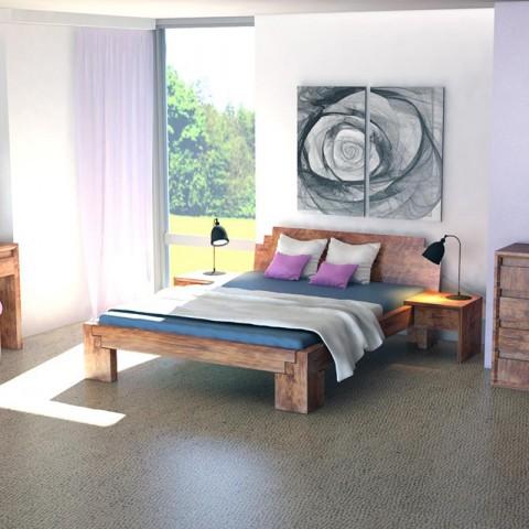 Łóżko drewniane Falun