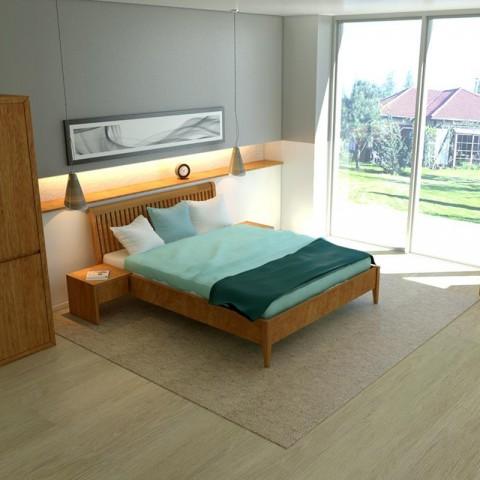 Łóżko drewniane Glamour