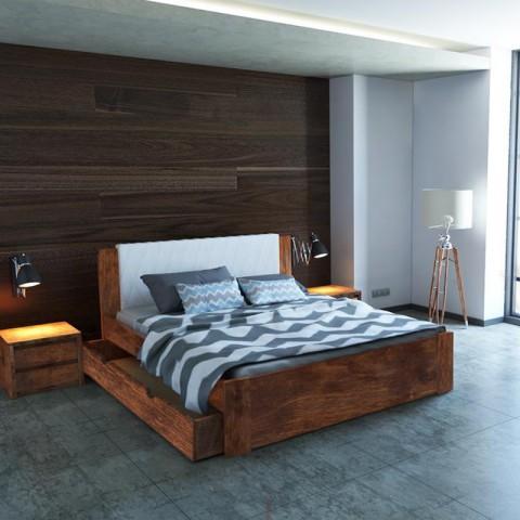 Łóżko MALMO PLUS EKODOM drewniane