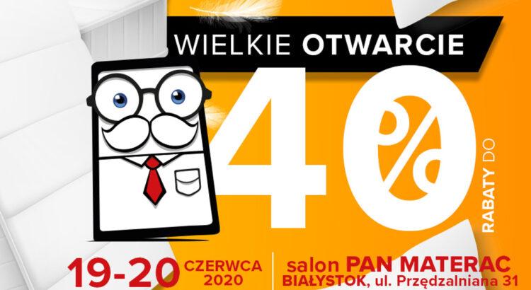 Otwarcie salonu Pan Materac w Białymstoku