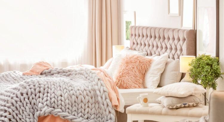 styl glamour - sypialnia