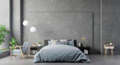 Styl industrialny - aranżacja sypialni