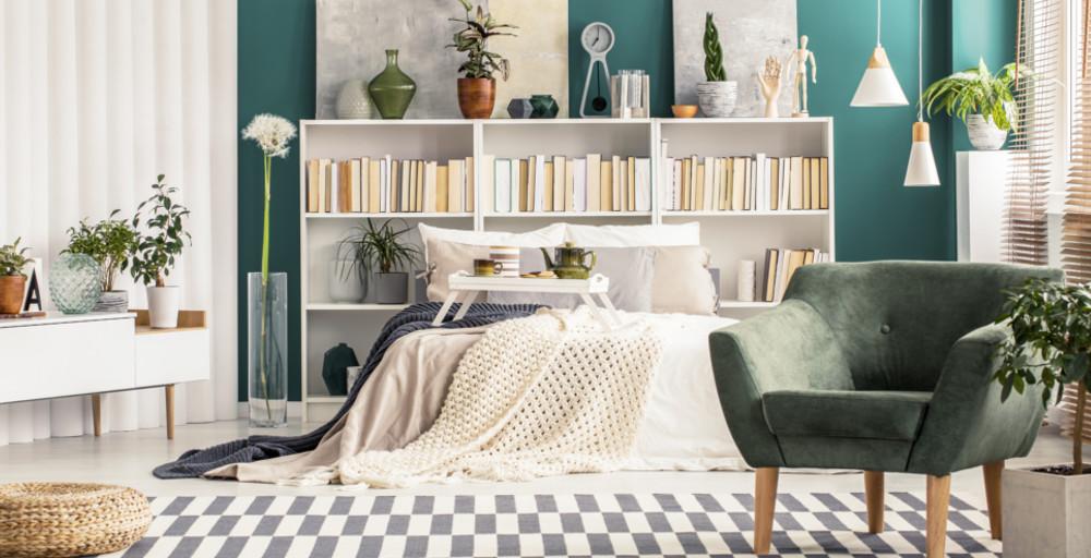 przykładowa sypialnia w stylu boho