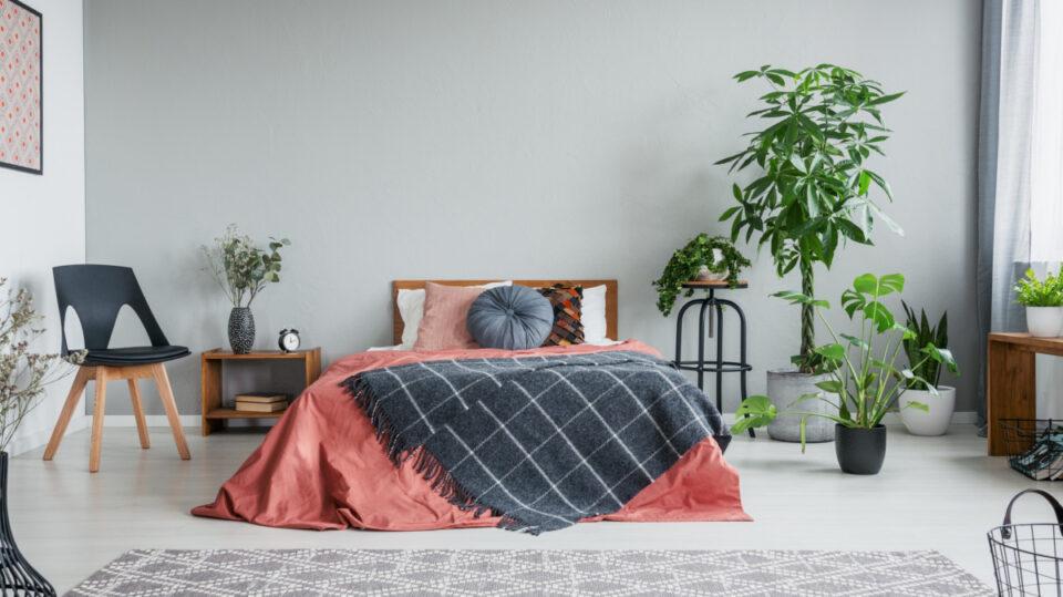 materac piankowy czy lateksowy - przykładowa sypialnia