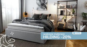 Rabat 20% na materace Hilding
