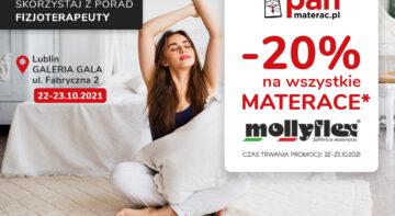 Rabaty na materace Mollyflex, darmowe porady fizjoterapeuty w salonach Pan Materac w Lublinie